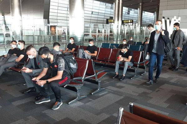 کاروان تیم فوتبال پرسپولیس به قطر رسید