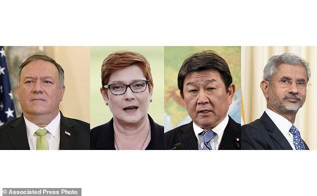 ملاقات حضوری وزرای خارجه آمریکا، استرالیا، هند و ژاپن هفته آینده در توکیو
