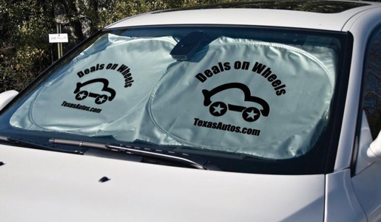 خرید آفتابگیر تبلیغاتی خودرو