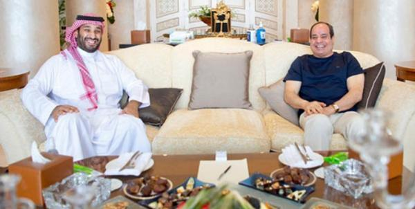 دیدار ولی عهد سعودی با رئیس جمهور مصر در شرم الشیخ